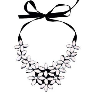 Cherryl's Jewelry - Clear Crystal Statement Necklace.